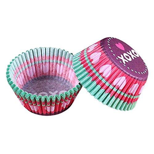 FiedFikt 100 Stück Backförmchen Cupcake Papier Cupcake Liner Muffin Pappbecher Cupcake Decorator B -