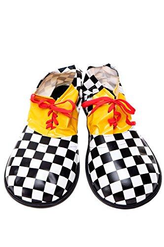 DRESS ME UP - Kostüm Karneval Zirkus übergroße Clownschuhe Clown schwarz weiß kariert VQ-026G (Karierte Clown Schuhe)