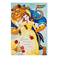 "Hallmark Beauty and the Beast 4th Birthday Card ""Beautiful Mind"" - Medium"