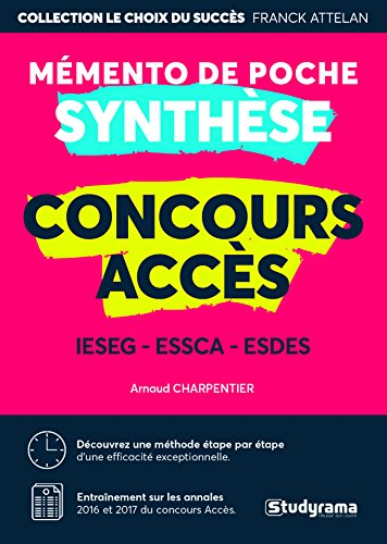 Épreuve de synthèse concours ACCES