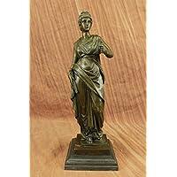 Statua di bronzo Scultura...Spedizione Gratuita...Firmato Dalou Splendida romana Fanciulla d'arte(YRD-079-UK)Statue Figurine Figurine Nude per ufficio e casa Décor Primo Giorno Collezionismo Articoli
