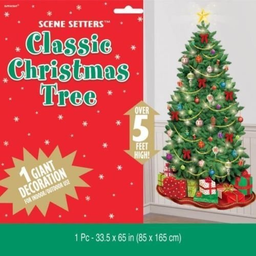 Classic Christmas Tree Giant Scene Setter Decoration by Amscan