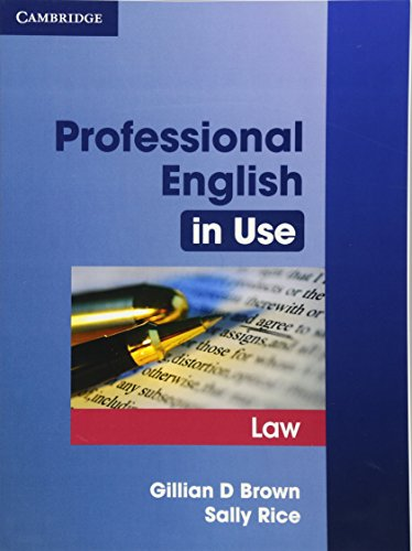 Professional English in Use Law por Gillian D. Brown