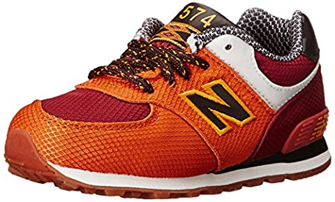 New Balance KL574 Expedition Running Shoe (Infant/Toddler), Orange, 17 W EU