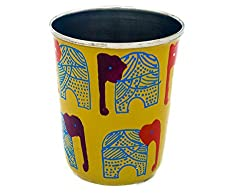 The Crazy Me Handpainted Elephant Pattern Tumbler (Small)