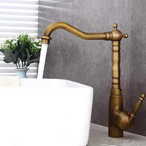 LINSONG Oberes Beckenwasser Hahn Antiken Wasserhahn Heiß Und Kalt Kupfer Pullable Toilette Wasserhahn Europäischen Retro-Zeichentisch