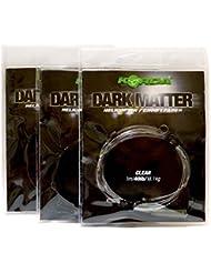 Korda pesca carpas nuevo Dark Matter Helicóptero/Chod Leader 1m 13,6 kg - Todos Colores - Transparente