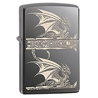 Zippo 60.000.336 Feuerzeug Anne Stokes Wolves Theme, Wolves and Girl 2014 Black Ice