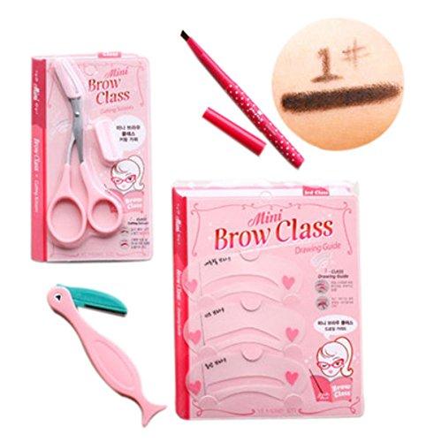 4 pièce maquillage définissez / professionnel maquillage sourcils, crayon noir