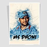 Art Bundle|Indian Captain MS Dhoni Decorative Wall Poster | M.S Dhoni Best Poster For Room, Poster For Office, Poster For Home. Wall Decals And Paintings Collection To Grace Any Place.(12 X 18 Inch)