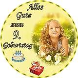 Tortenaufleger Fototorte Tortenbild zum Geburtstag Rund 20 cm G6 (Zuckerpapier)