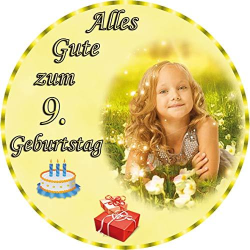 Tortenaufleger Fototorte Tortenbild zum Geburtstag Rund 20 cm G6 (Zuckerpapier) (Kuchen Bild)