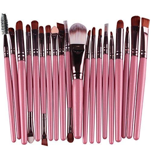 Daorier Lot de 15 Professionnel Cosmetiques Maquillage Brush Set Brosse Pinceau de Maquillage Brosse de Maquillage pour les Yeux Ombre Café
