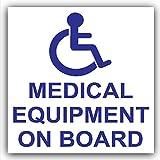 1x equipo médico sobre board-car, autobús, taxi, taxi Minicab sticker-disabled señal de seguridad, rueda, silla, acceso, primeros auxilios,, aviso, discapacidad, salud, seguridad, precaución