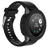 Für Garmin Fenix 5S GPS-Uhr präzise Schutzhülle Ersatz, Y56New Sport-geschützt Silikon Armbanduhr Schutzhülle für Garmin Fenix 5S GPS-Uhr, Sport Stil, perfekt für Sportman, schwarz