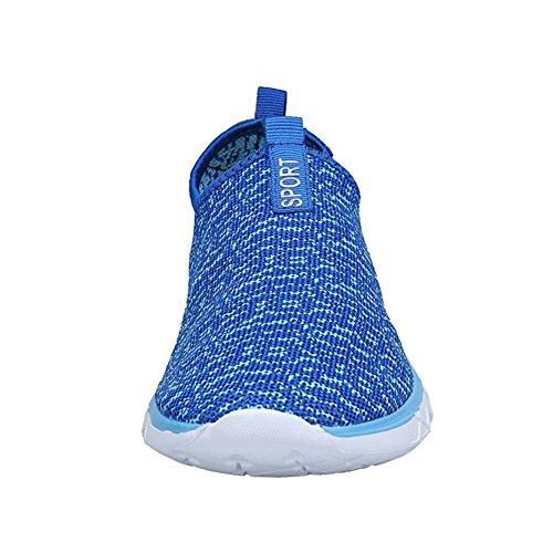 KEALUX Männer Frauen Leichte Wasserschuhe mit Drainage-Löcher auf Boden Walking Sneaker Quick-Dry Wassersport Barfuß Schuhe für Wasseraktivitäten Blau