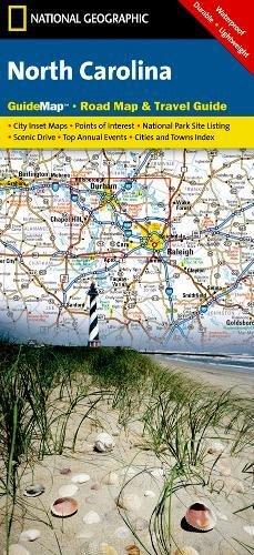 North Carolina: NATIONAL GEOGRAPHIC Guide Maps: NG.GM10.00620542