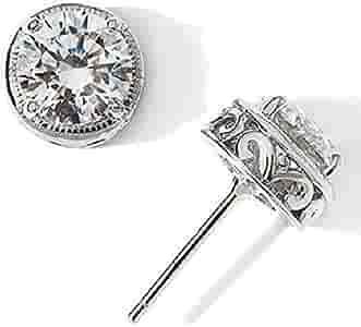 nuovo prodotto 49067 e839d Vorra Fashion Epiphany Diamonique - Orecchini a perno in argento ...