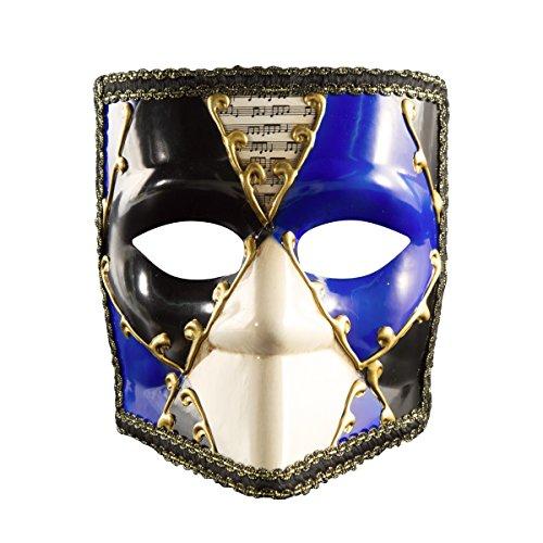 Treeshu Venezianische Maske Masquerade Erwachsene Volle Gesicht Halloween Square Gesichtsmaske,Blue