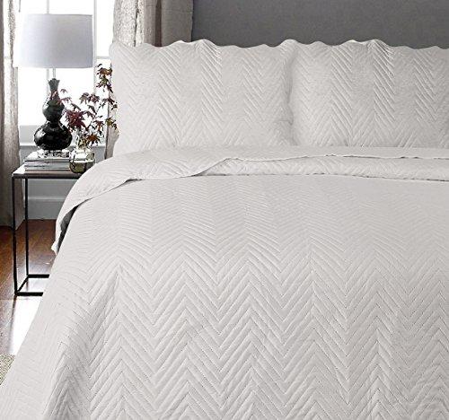 Uni Couette chaude pour lit Patchwork Édredon Jeté de lit   Polyester   Taille 220 x 240 cm   Arcade Argent   par Mode de coton