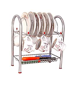 Phoenix Plate Dish Cup Shelf & Rack, Kitchen organizer, Pipe Cup-Saucer Stand