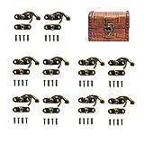 Bronze antique Tone droite Loquet Crochet avec loquet de vis, Sac Bricolage, bois, boîte à bijoux Décoration, 50 Ensembles