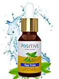 #3: TEA TREE Essential Oil for Skin by POSITIVE [15 ML] - Key Ingredient in Most Anti-Acne products
