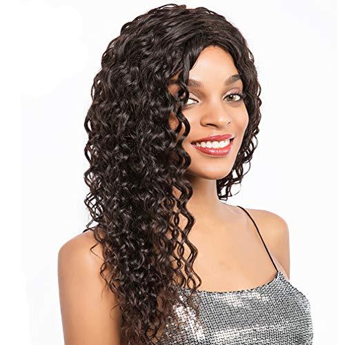 Human Hair Wigs for Black Women Remy Echthaar Perücke Lockig Deep Wave Lace Front Wig 13x4 Soft Lace Grade 8A Qualität Haare Bleached Knots mit Verstellbare Träger 20 zoll -
