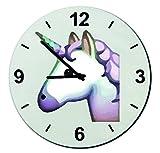 Glas Uhr Ø18 cm