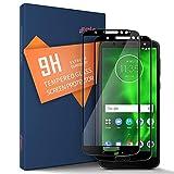 SLEO 2pcs Pellicola Protettiva Motorola Moto G6 Plus, Vetro Temperato Motorola Moto G6 Plus, [Protezione Completa] Cover Display Cellulare, Telefono Protettore 9H 0,25mm HD Alta Trasparente - Nero