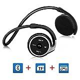 Auriculares-Bluetooth-V41-GRDE-Auriculares-Inalmbricos-Bluetooth-41-Alta-Calidad-de-Sonido-Auriculares-Deportivos-con-Funcin-de-FM-Tarjeta-TF-Mximo-64G-para-Deportes-Aire-Libre-Camping-Outdoor