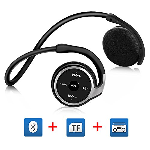 Cuffie Stereo Bluetooth 4.1 On-ear GRDE® Cuffie per Correre, Headphones Sportive Over Ear con Microfono Incorporato, TF Card 64G,FM Radio, Compatibile con Iphone, Ipad, Samsung, BlackBerry, HTC, ecc