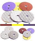 GoYonder - Juego de 3 almohadillas de pulido de diamante para pulir piedras, grado premium, mojadas, 10,16 cm