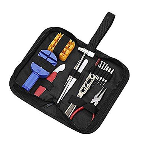 Professionelle Uhr Reparatur Werkzeug Kit Set Pin & Zurück Entferner beobachten Rückseite Fall Halter Öffner