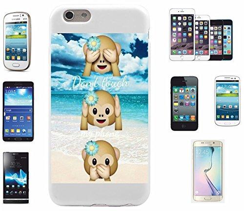 """Preisvergleich Produktbild Smartphone Case Samsung Galaxy S3 mini """"Dont Touch my Phone Drei Affen mit Urlaubs Summer"""", der wohl schönste Smartphone Schutz aller Zeiten."""