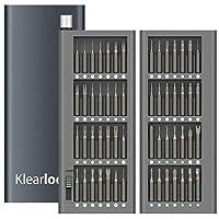 Klearlook Precision Screwdriver Set, 56 in 1 Aluminium Magnetic Driver Bit Set 56 Piece Pocket Screwdriver Tool Set,Unique Tooling Screwdriver Repair Kit for Electronics Cellphone PC Tablet
