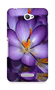 AMEZ Autumn Flower Back Cover For Sony Xperia E4