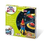 """Staedtler FIMO Kids, Coffret Form & Play """"Espace"""" avec 4 pains assortis de pâte FIMO extra-souple de 42 grammes, 1 outil de modelage et 1 décor, 8034 09 LY"""