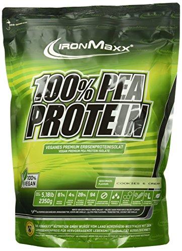 IronMaxx 100 Prozent Pea Protein - Cookies und Cream, 1er Pack (1 x 2.35 kg)