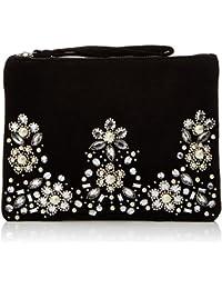 New Look Jacquard Embellished, Pochettes femme, Black, 3x15x20 cm (W x H L)