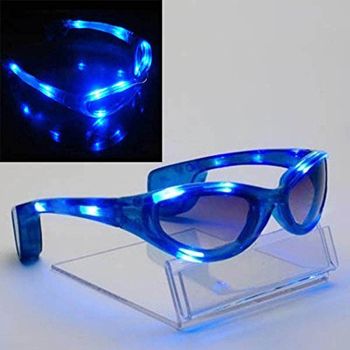 Spaceman Light Up LED Glasses / Shades - Blue by Mammoth Sales