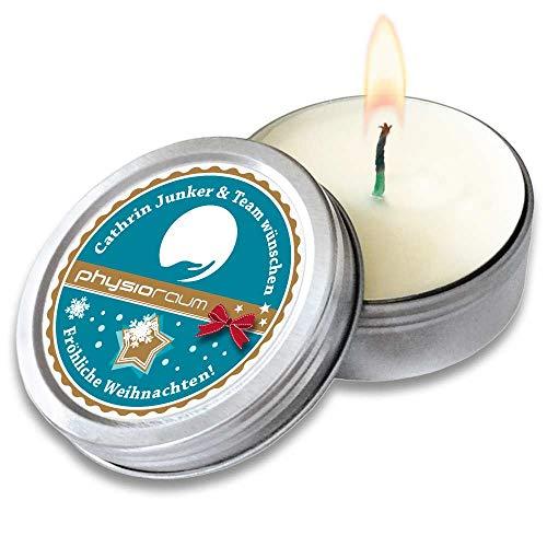 CANDLE in the tin, 100 St. | Werbeartikel mit Druck | Kerze in Metalldose | Werbegeschenke mit Logo | Werbemittel Weihnachten (100)
