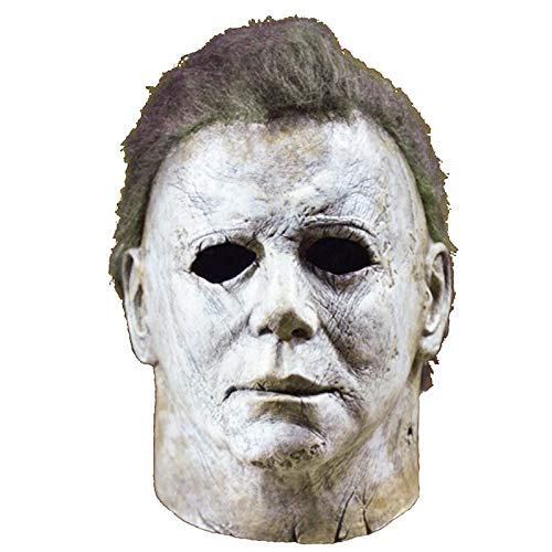 Michael Myers Maske Halloween 2018 Horror-film Cosplay Ulten Latex Full Face Helmet Halloween Party Scary Props 1 (Michael Myers Maske)