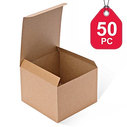 MESHA Kraftkartons 5 x 12,7 x 8,9 cm, braune Papier-Geschenkboxen mit Deckel für Geschenke, Basteln, Cupcake-Boxen (Papier-boxen Mit Deckel)