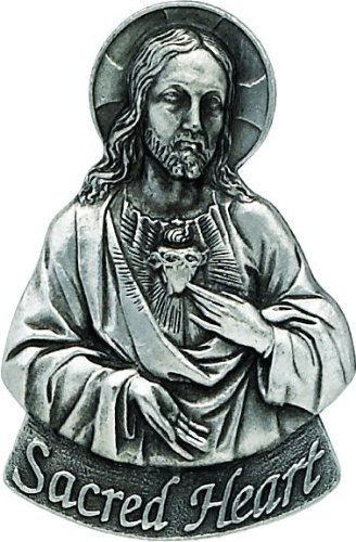 Cathedral Art KVC117 Auto Visor Clip, Sacred Heart, 2-3/8-Inch by Cathedral Art
