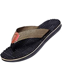 9e72f92af22920 Yiiquanan Mens Outdoor   Indoor Flip Flop Beach Sandals with Great Arch  Support Irregular Massage Granules