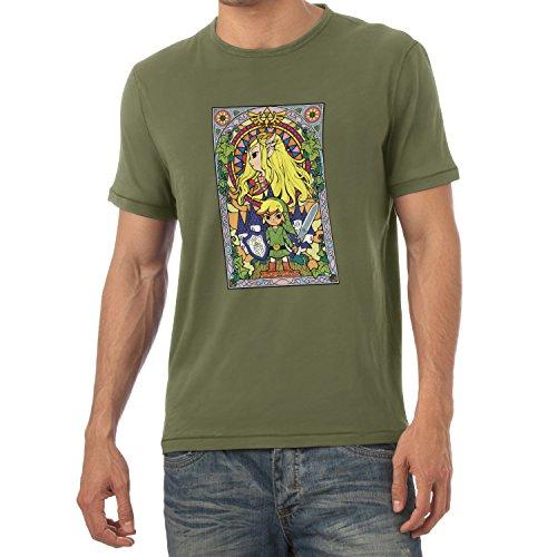 TEXLAB - Window Link - Herren T-Shirt Oliv