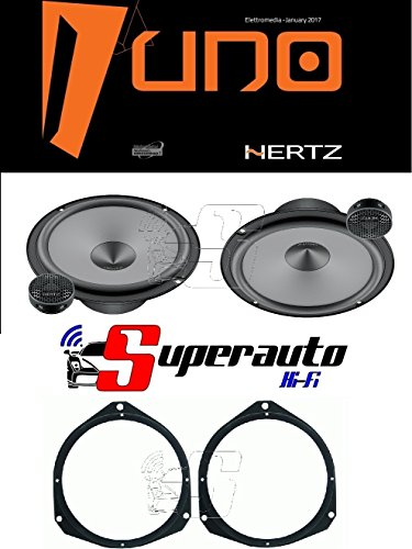 Hertz LINEA UNO K165 K 165 KIT ALTOPARLANTI DUE VIE CASSE AUTO 165 mm + supporti casse OPEL Astra H dal 2005 e Corsa D dal 2006 Anteriore 165 cm