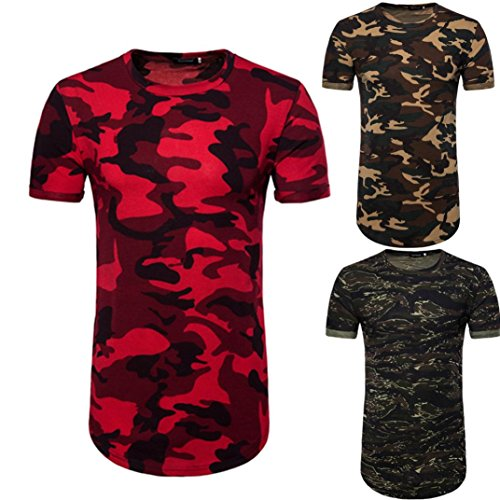 Malloom Chemise Décontractée Camouflage Occasionnels O Cou Pull Long T-Shirt Blouse