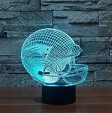 FENF Fußball-Hut New England Patriots 3D Night Lights 7 Farbverlauf Touch LED Lichter Kinder Geschenke